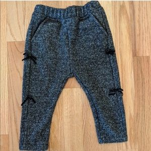 Zara Baby Jogger Pants with bow detail 18-24 mo